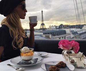 paris, coffee, and blonde image