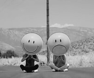 black and white, happy, and music image