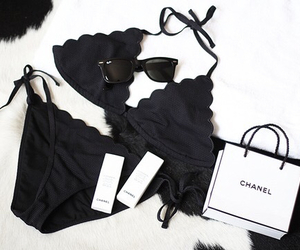 chanel, bikini, and fashion image