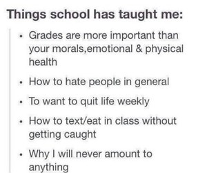 quotes, school, and tumblr image