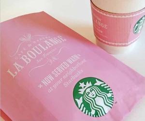 pink and starbucks image