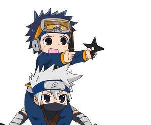 kakashi, obito, and naruto image