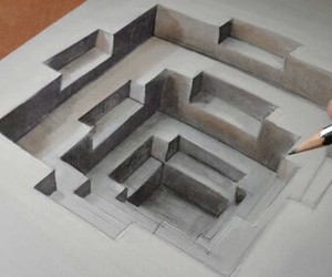 art, drawing, and 3d image