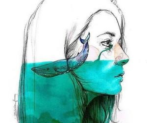 lie, sad, and sadness image