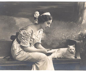 cat, dress, and victorian image