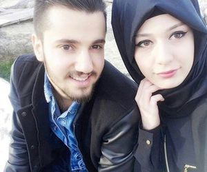 amour, muslim, and couple image
