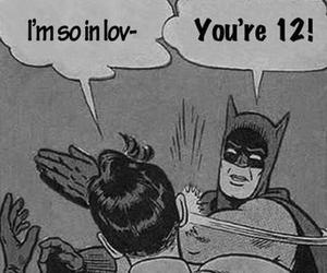 batman, funny, and robin image