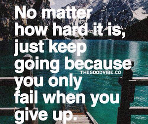 quote, life, and fail image