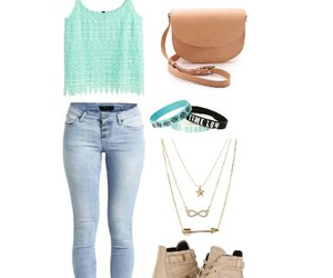 blue, chill, and outfit image