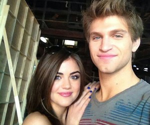 pretty little liars, keegan allen, and lucy hale image