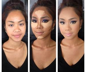 make up, makeup, and contour image