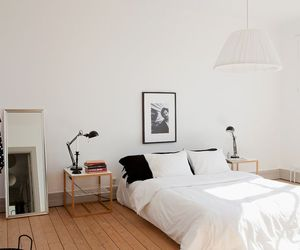 bed, decor, and minimal image