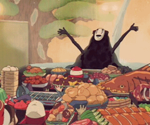 about me, animation, and buffet image
