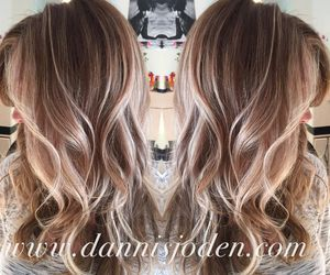 blond, hair, and balayage image