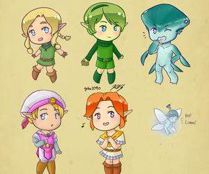 Legend of Zelda, link, and navi image