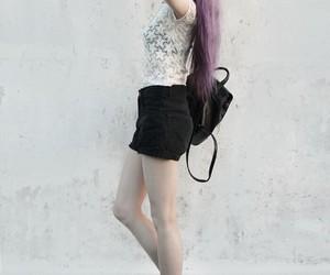 dark and purple hair image