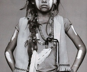 girl, indian, and kids image
