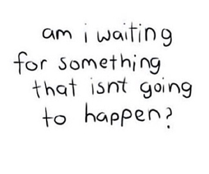 quotes, waiting, and sad image
