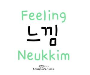 korean and feeling image