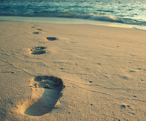 sand, footprints, and beach image