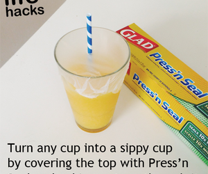 cup, plastic wrap, and straw image