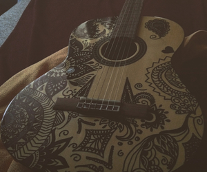 draw, drawing, and guitar image