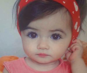 baby, sweet, and eyes image