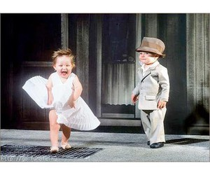 baby and Marilyn Monroe image