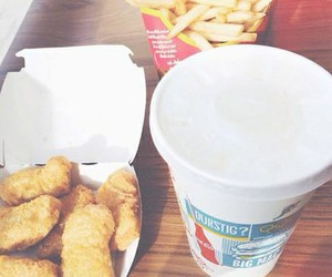 Chicken, food, and mcdo image