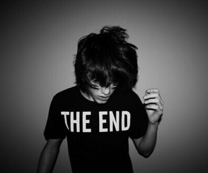 boy, the end, and black and white image