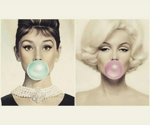 audrey hepburn and Marilyn Monroe image