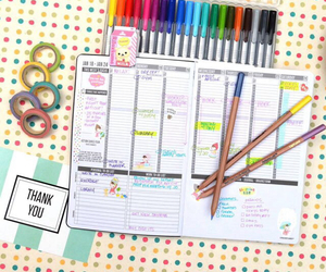 agenda, planner, and washitape image