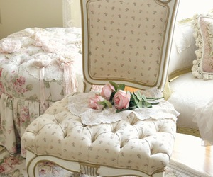 bedroom, decor, and shabby chic image