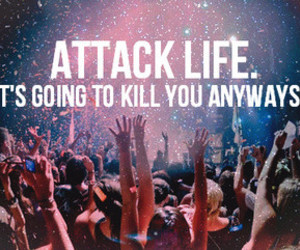 life, party, and attack image