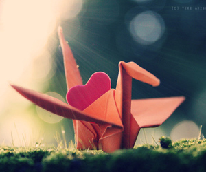 crane and heart image