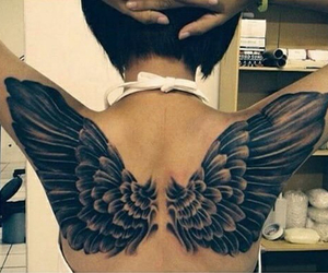 bird, tattoo, and eagl image