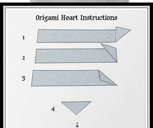 diy, heart, and origami hearts image