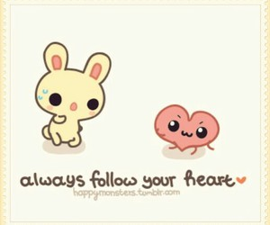 heart, cute, and bunny image