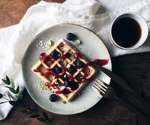 waffles, food, and coffee image