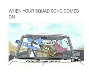funny, squad, and song image