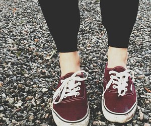 shoes, vans, and red image