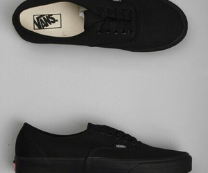 vans, black, and shoes image