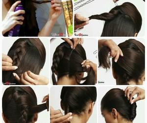 bun, hair, and tutorial image