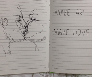 art, drawing, and love image