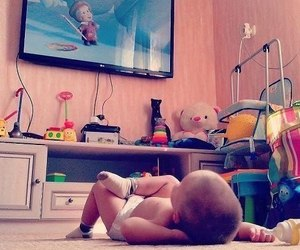 baby, tv, and cartoon image