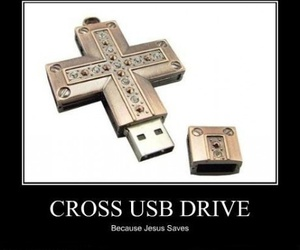 cross, funny, and text image