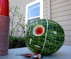funny, star wars, and watermelon image
