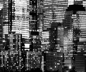 background, new york, and black and white image