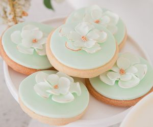 Cookies, decorated, and flower image