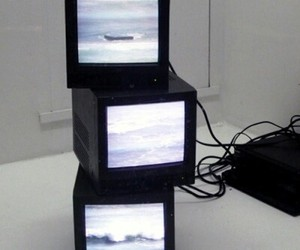 tv, grunge, and pale image